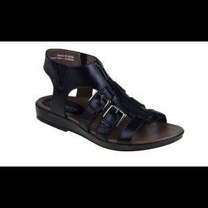 Earthies Gladiator Sandals Black 8.5 Versailles
